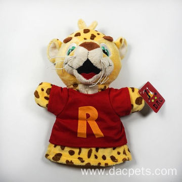 plush kids tiger hand puppet